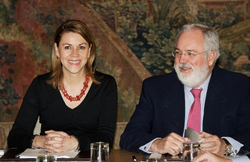 Canete and his work colleague, Mary Pains from Cospedal