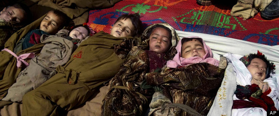 The lifeless bodies of Afghan children lay on the ground